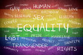 Equality Word Cloud Background Concept
