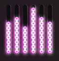 Equalizer glossy glowing track bar vector media player elements Stock Photo