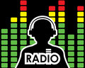 Equalizer radio concept man silhouette Stock Photo