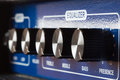 Equalizer settings on the amp Royalty Free Stock Photo