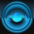 Equalizer wit speaker vector background Royalty Free Stock Photo