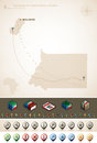 Equatorial guinea republic of and africa maps plus extra set of isometric icons cartography symbols set part of the world maps set Stock Image