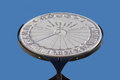 Equatorial sundial marble in aiello del friuli italy Royalty Free Stock Photo
