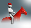 Equestrian Dressage 3D symbol, Olympic sports Royalty Free Stock Photo