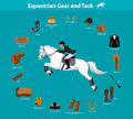 Equestrian Gear and Tack Royalty Free Stock Photo