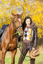 Equestrian with her horse Royalty Free Stock Photo