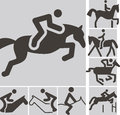 Equestrian icons summer sports icon Royalty Free Stock Image