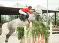 Equestrian jumping sport Stock Photo