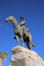 Equestrian monument german rider more known under its original name reiterdenkmal and the name südwester reiter in windhoek Stock Images