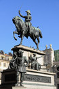 Equestrian monument to carlo alberto king torino Royalty Free Stock Photos