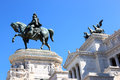 Equestrian sculpture of National Monument, Rome, Italy Stock Photography