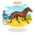 Equestrian Sport Cartoon Template Royalty Free Stock Photo