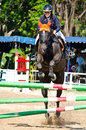 Equestrian sport chon buri thailand april unidentified with horse at the th competition nawamintr cup queen s cup on april in chon Stock Photo