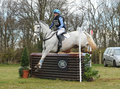 Equestrian sport horse jumping ella hitchman on rocky rockstar rd int sec g gatcombe Royalty Free Stock Photo