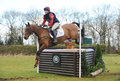 Equestrian sport horse jumping louisa lockwood on avocado rd int sec h gatcombe Stock Photos