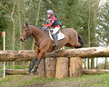 Equestrian sport horse jumping louise harwood and witson nd advanced intermediate section l gatcombe trials Royalty Free Stock Images