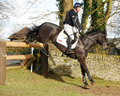 Equestrian sport horse jumping oliver townend and black tie winners of open intermediate section k gatcombe trials Stock Photography