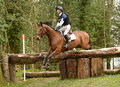Equestrian sport horse jumping paul sims on sam i am iii rd int sec i gatcombe Stock Photography