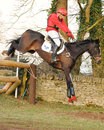 Equestrian sport horse jumping paul tapner and indian mill winners of advanced intermediate section l gatcombe trials Stock Images