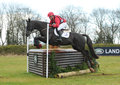 Equestrian sport horse jumping paul tapner on up in the air st int sec g gatcombe Royalty Free Stock Image
