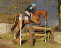 Equestrian sport horse jumping selina milnes and bodidly nd open intermediate section k gatcombe trials Royalty Free Stock Photography