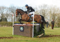 Equestrian sport horse jumping william fox pitt on henton for fun st int sec h gatcombe Stock Images