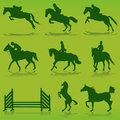 Equestrian vector Royalty Free Stock Photos