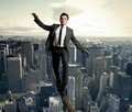 Equilibrist businessman Stock Images