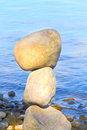 Equilibrium balance stones above the other Royalty Free Stock Photos