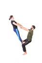 Equilibrium exercise Royalty Free Stock Photo