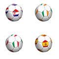 Equipament euro cup 2012 group C Royalty Free Stock Photos