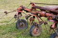 Equipment for agriculture grass harrow which attaches to front of tractor Royalty Free Stock Photo