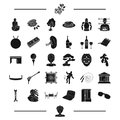 Equipment, crime and other web icon in black style.alcohol, organs, furniture icons in set collection.