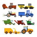 Equipment farm for agriculture machinery harvester Royalty Free Stock Photo