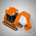 Equipment for high mining industry vector isometric illustration of a tracked excavator Royalty Free Stock Images