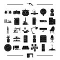Equipment, progress, ecology and other web icon in black style. table, industry, furniture, icons in set collection.