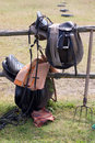 Equipment to horsemanship Stock Photos