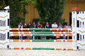 Equitation obstacles barriers during a horse jumping competition Royalty Free Stock Photo