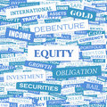 Equity word cloud illustration tag cloud concept collage Stock Photography