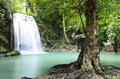 Era van waterfall in kanchanaburi province thailand Stock Images