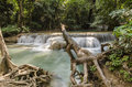 Era-WAN waterval Nationaal Park in Kanchanaburi, Thailand Stock Afbeelding