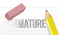 Erase ignorance concept immature design over a white background Royalty Free Stock Photos