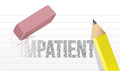 Erase impatience illustration design concept over white Stock Photos