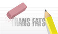 Erase trans fats concept illustration design over white Stock Photography