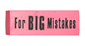 Eraser For Big Mistakes Royalty Free Stock Photo