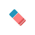 Eraser flat icon, school and education element