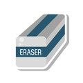 Eraser school supply isolated icon
