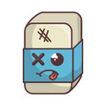eraser tool school isolated icon