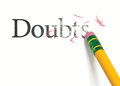 Erasing Doubts Royalty Free Stock Photo