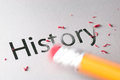 Erasing History Stock Photography